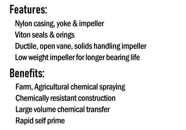 Moulded Chemical Pump Features & Benefits