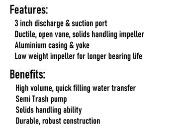 Water Pumps High Volume Features & Benefits