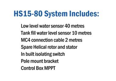 HydroTron HS15-80 Pump Includes
