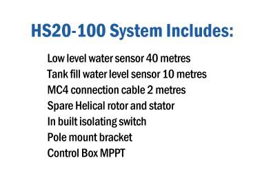 HydroTron HS20-100 Pump Includes
