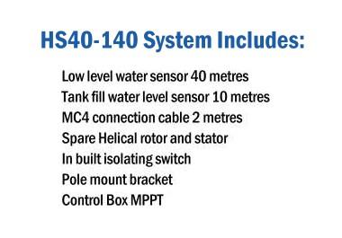 HydroTron HS40-140 Pump Includes