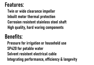 High Pressure Pump Series Benefits & Features