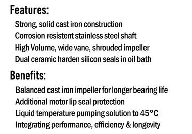 High Volume Pump Series Benefits & Features