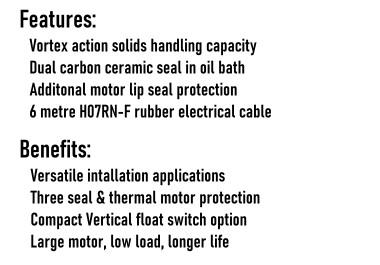 Semi Vortex Pump Series Benefits & Features